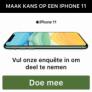 Maak kans op een Apple iPhone 11 twv €809!